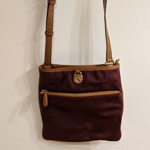 Michael Kors Burgundy Kempton Crossbody